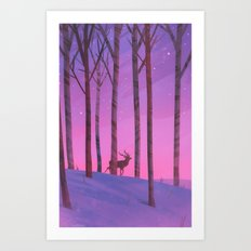 Among the Birch Art Print