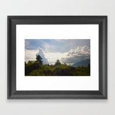 Invasion Of Clouds Framed Art Print