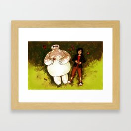 Baymax and Hiro Framed Art Print