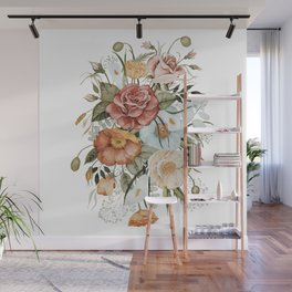 Roses and Poppies Wall Mural