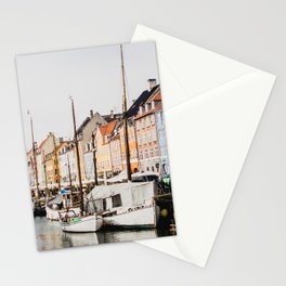 The Row | City Photography of Boats and Colorful Houses in Nyhavn Copenhagen Denmark Europe Stationery Cards