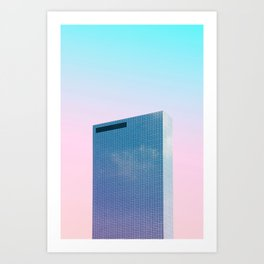Full Crystal building with Pastel sky Art Print