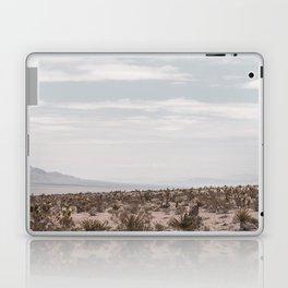 Blue Mountain Mojave // Vintage Desert Landscape Cactus Plants Nature Scenery Photograph Decor Laptop & iPad Skin
