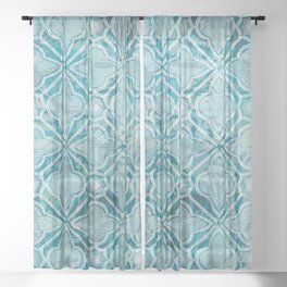 MoroccanBluez Sheer Curtain