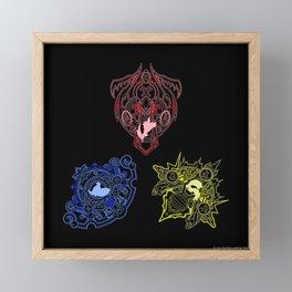 Magus Sisters fayth Framed Mini Art Print