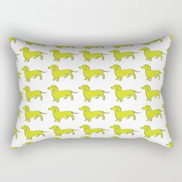 Doxie Love - Lime Rectangular Pillow