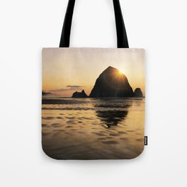 Cannon Beach haystack Tote Bag