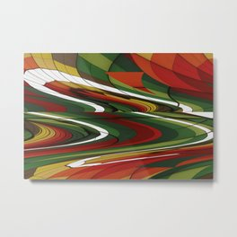 Abstract rectangle Geometry design Metal Print