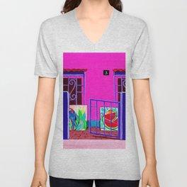 Exotic Artist House Glimpse  Unisex V-Neck