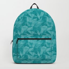 Pantone Viridian Green 17-5126 Abstract Geometrical Triangle Patterns 2 Backpack