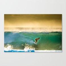 Ricardo Dos Santos, Sunset surfing on North Shore Hawaii  Canvas Print