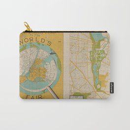 1939 World's Fair Map Carry-All Pouch