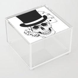 Skull and Dice, skull art, custom gift design Acrylic Box