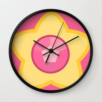 steven universe Wall Clocks featuring Steven Universe by The Barefoot Hatter
