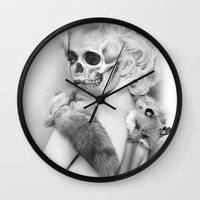 lucy Wall Clocks featuring LUCY by ozgurozcelik