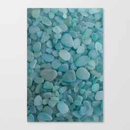 Japanese Sea Glass - Low Tide Blues I Canvas Print