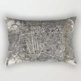 Vintage Map of Berlin Germany (1870) Rectangular Pillow