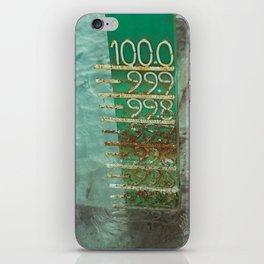 water level iPhone Skin