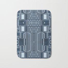 Blue Geek Motherboard Circuit Pattern Bath Mat