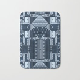 Blue Geek Motherboard Circuit Pattern Bath Mat