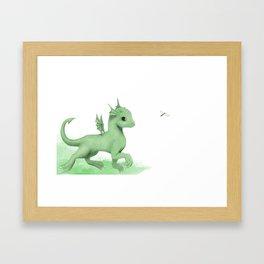 Green Dragon Buddy Framed Art Print