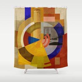 Kraftwerk (Square) Shower Curtain