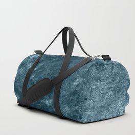 Peacock teal velvet Duffle Bag