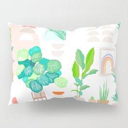 Mid Century Modern Tropical Plant pattern Pillow Sham
