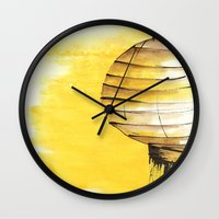lantern Wall Clocks featuring Lantern by Emma Stein