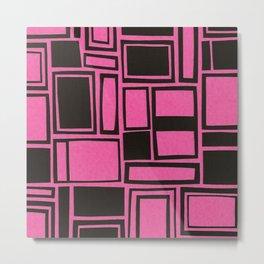 Windows & Frames - Pink Metal Print