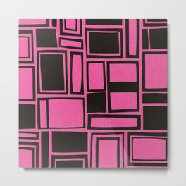 Windows & Frames - Pink Metal Print