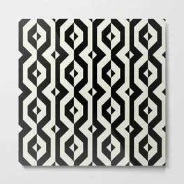 Modern bold print with diamond shapes Metal Print