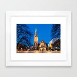 Christchurch Cathedral, New Zealand Framed Art Print