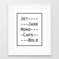 font Framed Art Prints featuring This Font by Matt Hunsberger