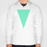 scales Hoodies featuring Mermaid Scales by Sam Cabading