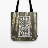 Tote Bags featuring TOUGH TREES by cabin supply co