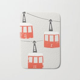 Barcelona Cable Cars Bath Mat