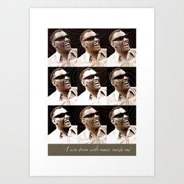 Jazz Heroes Series - Ray Charles Art Print