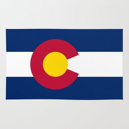 Colorado flag - High Quality image Rug