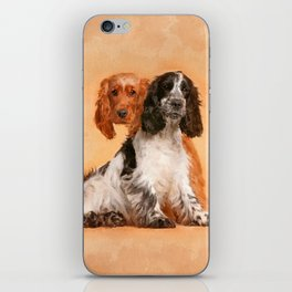 English Cocker Spaniel Dog Digital Art iPhone Skin