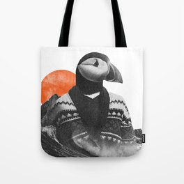 The Hipster Puffin Tote Bag
