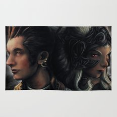 Balthier and Fran Final Fantasy 12 Portraits Rug