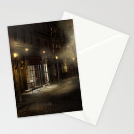 Victorian Street Stationery Cards