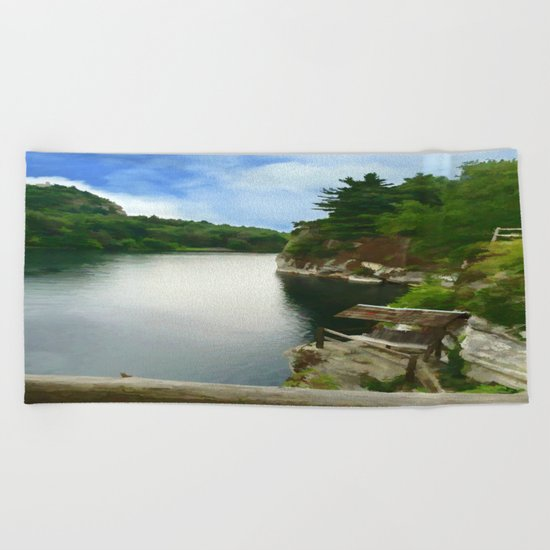 Majestic Mohonk Lake Beach Towel