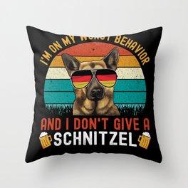 I Don't Give A Schnitzel - Oktoberfest Throw Pillow