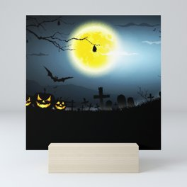Scary Nightmare Pumpkin Mini Art Print