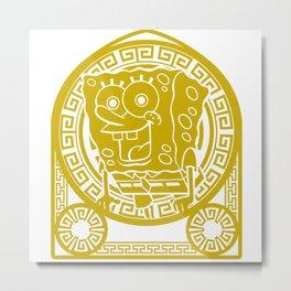 Sponge Bob; Stained Glass Metal Print