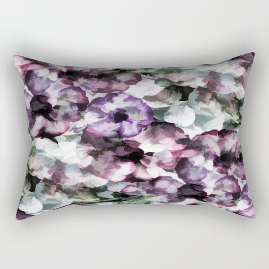 Vintage Floral Abstract Rectangular Pillow