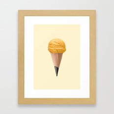 ICE CREAM PENCIL Framed Art Print