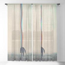 The Running Man Sheer Curtain